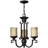 Hinkley 4013OL Casa 3 Light 17 inch Olde Black Chandelier Ceiling Light in Antique Scavo