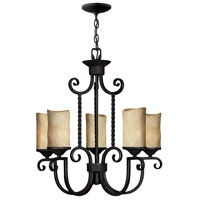 Hinkley 4015OL Casa 5 Light 25 inch Olde Black Foyer Chandelier Ceiling Light in Antique Scavo