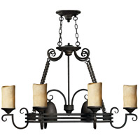 Hinkley 4016OL Casa 8 Light 38 inch Olde Black Island Chandelier Ceiling Light, Oval