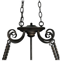Hinkley 4016OL Casa 8 Light 38 inch Olde Black Island Chandelier Ceiling Light, Oval alternative photo thumbnail