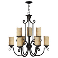 Hinkley 4018OL Casa 9 Light 29 inch Olde Black Foyer Chandelier Ceiling Light in Antique Scavo, 2 Tier