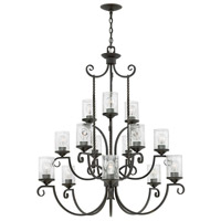 Hinkley 4019OL-CL Casa 15 Light 42 inch Olde Black Chandelier Ceiling Light in Clear Seedy