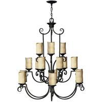 Hinkley 4019OL Casa 15 Light 42 inch Olde Black Chandelier Ceiling Light in Antique Scavo