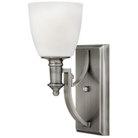 Hinkley 4020AN Truman 1 Light 5 inch Antique Nickel Sconce Wall Light, Etched Opal Glass
