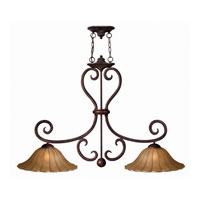 Hinkley Flat Iron Island 2Lt Chandelier in Chocolate 4034CH