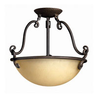 Hinkley Lighting Gold Hill 2 Light Semi Flush in Olde Black 4051OL photo thumbnail