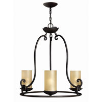 Hinkley Lighting Gold Hill 3 Light Chandelier in Olde Black 4053OL photo thumbnail