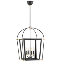 Hinkley 4055BK Selby 4 Light 20 inch Black Chandelier Pendant Ceiling Light