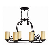 Hinkley Lighting Gold Hill 6 Light Chandelier in Olde Black 4055OL
