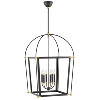 Hinkley 4056BK Selby 6 Light 25 inch Black Chandelier Pendant Ceiling Light