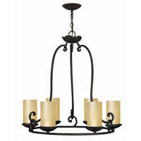 Hinkley Lighting Gold Hill 6 Light Chandelier in Olde Black 4056OL