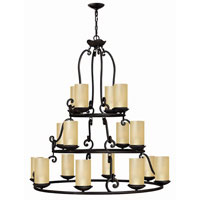 Hinkley Lighting Gold Hill 16 Light Chandelier in Olde Black 4059OL photo thumbnail