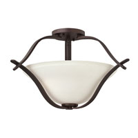 Hinkley Lighting Lauren 2 Light Semi Flush in Victorian Bronze 4061VZ