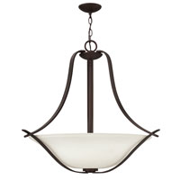 Hinkley 4062VZ Lauren 3 Light 33 inch Victorian Bronze Foyer Ceiling Light, Etched Opal Glass
