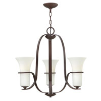 Hinkley 4063VZ Lauren 3 Light 24 inch Victorian Bronze Chandelier Ceiling Light, Etched Opal Glass