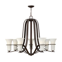 Hinkley 4068VZ Lauren 7 Light 38 inch Victorian Bronze Chandelier Ceiling Light, Etched Opal Glass