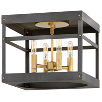 Hinkley 4071HB Porter 4 Light 12 inch Heritage Brass Foyer Flush Mount Ceiling Light