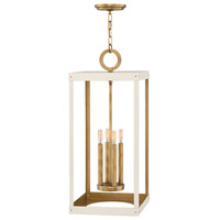 Porter 4 Light 12 inch Heritage Brass with Warm White Chandelier Pendant Ceiling Light