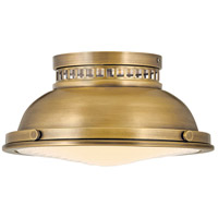 Hinkley 4081HB Emery 2 Light 13 inch Heritage Brass Flush Mount Ceiling Light