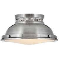 Hinkley 4081PL Emery 2 Light 13 inch Polished Antique Nickel Flush Mount Ceiling Light