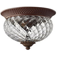 Plantation 2 Light 12 inch Copper Bronze Foyer Flush Mount Ceiling Light