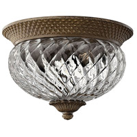 Plantation 2 Light 12 inch Pearl Bronze Bath Flush Mount Ceiling Light
