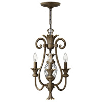 Plantation 3 Light 13 inch Pearl Bronze Chandelier Ceiling Light