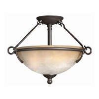 Hinkley Lighting Portofino 3 Light Semi Flush in Victorian Bronze 4111VZ photo thumbnail