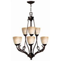 Hinkley Lighting Portofino 9 Light Chandelier in Victorian Bronze 4118VZ photo thumbnail