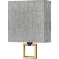 Hinkley 41301BK Galerie Link LED 8 inch Black/Heritage Brass ADA Sconce Wall Light