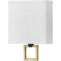 Hinkley 41302BK Galerie Link LED 8 inch Black/Heritage Brass ADA Sconce Wall Light
