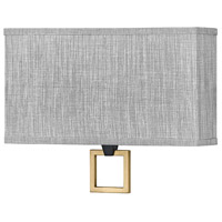 Hinkley 41303BK Link LED 15 inch Black/Heritage Brass ADA Wall Sconce Wall Light Galerie