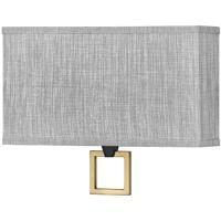 Hinkley 41303BK Galerie Link LED 15 inch Black/Heritage Brass ADA Sconce Wall Light