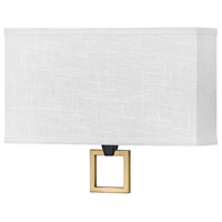Hinkley 41304BK Galerie Link LED 15 inch Black/Heritage Brass ADA Sconce Wall Light
