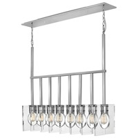 Hinkley 41315PNI Ludlow 8 Light 37 inch Polished Nickel Linear Chandelier Ceiling Light, Oval