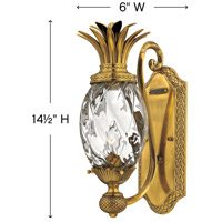Hinkley 4140BB Plantation 1 Light 6 inch Burnished Brass Sconce Wall Light alternative photo thumbnail