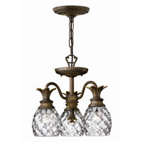 Hinkley Lighting Plantation 3 Light Chandelier in Pearl Bronze 4143PZ photo thumbnail
