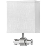 Hinkley 41602BN Luster LED 8 inch Brushed Nickel ADA Sconce Wall Light Galerie
