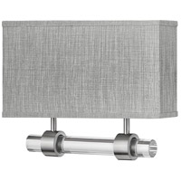 Hinkley 41603BN Luster LED 15 inch Brushed Nickel ADA Wall Sconce Wall Light Galerie