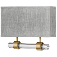 Hinkley 41603HB Galerie Luster LED 15 inch Heritage Brass ADA Sconce Wall Light