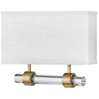 Hinkley 41604HB Galerie Luster LED 15 inch Heritage Brass ADA Sconce Wall Light