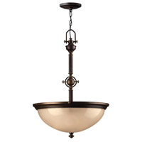 Mayflower 3 Light 21 inch Olde Bronze Hanging Foyer Ceiling Light