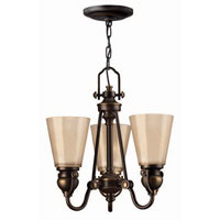 Hinkley Lighting Mayflower 3 Light Chandelier in Olde Bronze 4163OB photo thumbnail