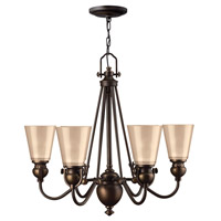 Hinkley 4166OB Mayflower 6 Light 26 inch Olde Bronze Chandelier Ceiling Light