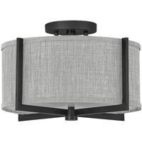 Hinkley 41705BK Galerie Axis LED 15 inch Black Semi-Flush Mount Ceiling Light