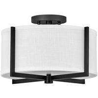 Hinkley 41706BK Galerie Axis LED 15 inch Black Semi-Flush Mount Ceiling Light