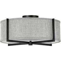 Hinkley 41707BK Galerie Axis LED 20 inch Black Semi-Flush Mount Ceiling Light