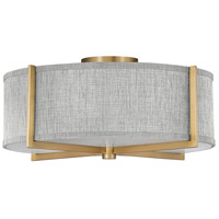 Hinkley 41707HB Galerie Axis LED 20 inch Heritage Brass Semi-Flush Mount Ceiling Light
