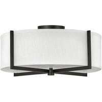 Hinkley 41708BK Galerie Axis LED 20 inch Black Semi-Flush Mount Ceiling Light