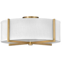Hinkley 41708HB Galerie Axis LED 20 inch Heritage Brass Semi-Flush Mount Ceiling Light